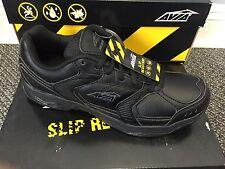 AVIA Men's Avi-Union Walking Safety Sneaker A1439MBSV.X All Black 4E Width