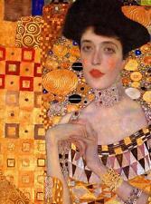Gustav Klimt - Adele  Stretched Canvas Wall Art Poster Print Painting Artist