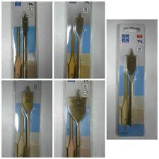 Punta testa piatta legno attacco esagonale varie misure Lux Tools Trapano punte