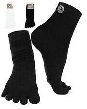 Mato & Hash 5 Toe Active Athletic Performance Sport Crew Length Toe Socks