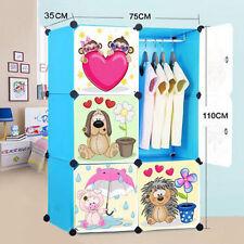 DIY 6 Cube Cute Kid Storage Cupboard Cabinet Wardrobe Rack Toy Book Shelves