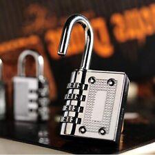 Silver 3 Digit Combination Padlock Pad lock Number Luggage Locker Bike Suitcase