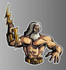 Zeus Greek god sticker vinyl decal