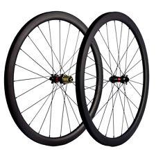 700C Full Carbon Disc Brake Wheelset Novatec 411-412 Clincher/Tubeless 40mm Dep
