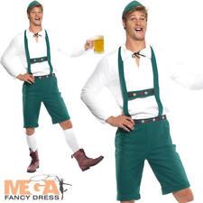 Oktoberfest Mens Fancy Dress Bavarian German Beer Man Adults Lederhosen Costume
