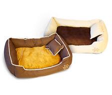 Hundebett mit 2x Kissen, Hundesofa, Hundekorb Katzenkissen