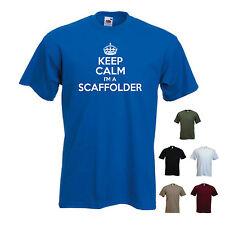 """KEEP CALM I'M A Scaffolder"" FUNNY job PONTEGGI Builder T-SHIRT TEE"