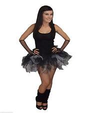 Neon Black White Tutu skirt Sparkle Halloween 80's Fancy Dress Hen Party Gothic
