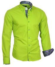 Hemd Herrenhemd Shirt Langarm Binder de Luxe Button-Down-Kragen 86004 Grün