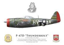 "Print P-47D Thunderbolt, ""Gabby"" Gabreski, 61st FS, 56th FG (par G. Marie)"