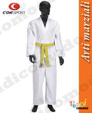 Tae kwon do scuola kimono cotone collo bianco CORSPORT arti marziali taekwondo