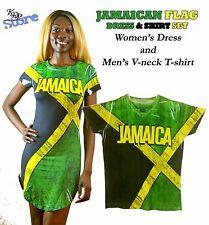 KenJeanne Jamaican Flag Dress & Shirt Set