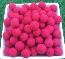 1.5cm Handmade 100% Wool Hot Pink Color Felt Ball Beads Pom Pom DIY Craft