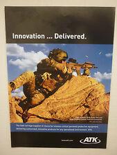4/2010 PUB ATK EAGLE MODULAR BODY ARMOR VEST US ARMY ORIGINAL AD