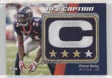 2012 Topps NFL Captain's Patch #NCP-CB Champ Bailey Denver Broncos Football Card