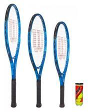 Wilson Ultra Team Blue Junior Tennis Racket + Tennis Balls -Various Size Options