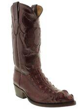 Mens Burgundy Genuine Alligator Skin Head Cut Cowboy Boots J Toe