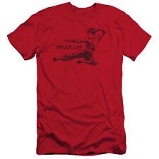 Bruce Lee Line Kick Mens Slim Fit Shirt