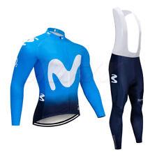 Cycling Jersey Long Sleeve Road Winter Thermal Jacket Full Zipper Bids Trousers