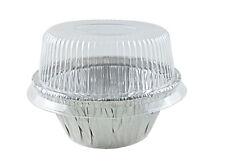 Handi-Foil 3.5 oz. Aluminum Foil Cup w/Dome Lid -Ramekin/Cupcake/Tart Container