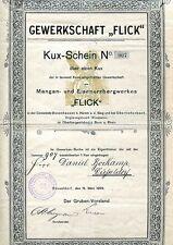 """!  KUX Gewerkschaft """"FLICK"""" Originalunterschriften Wiesbaden Bonn OU !"""