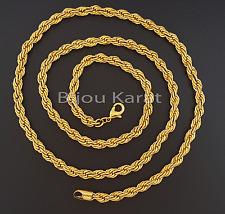 Massive catena d'oro 24 Carati Dorato serpenti catena catena 60 80 cm zincir 7 mm