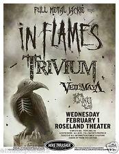In Flames / Trivium / Veil Of Maya 2012 Portland Concert Tour Poster