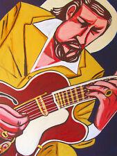 BARNEY KESSEL PRINT poster jazz blues swing great guitars cd gibson archtop