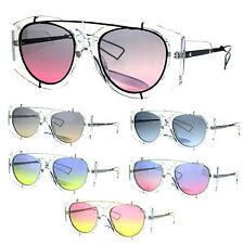Funk Retro Clear Frame Oceanic Lens Unique Funkadelic Aviator Sunglasses
