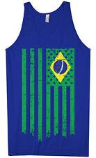 Brazil American Flag Men's Tank Top Brazilian US Pride