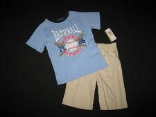 "NEW ""BASEBALL CHAMP"" Shorts Boys Clothes 4T Spring Summer Toddler Kids School"