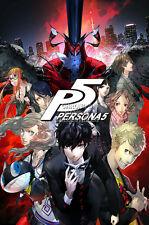 RGC Huge Poster - Shin Megami Tensei Persona V 5 PS4 PS3 PS2 PSP - EXT763