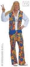 4tlg.hippie traje,Woodstock 70erjahre,multicolor,hombre,S = 46-48,M = 48-50,L =