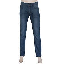 New Men's Blue Lyocell Denim Jeans Slim Fit Size 31 32 33 34 35 36 37 38