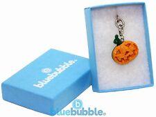 Bluebubble TRICK OR TREAT 21mm Pumpkin Face Keyring Gift Box Funky Fancy Dress