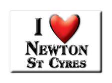 SOUVENIR UK - ENGLAND MAGNET UNITED KINGDOM I LOVE NEWTON ST CYRES (DEVON)