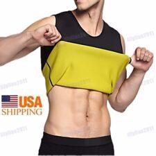 Men's Women Neoprene Slimming Vest Cami Hot Gym Shapers Shapewear Sweat Thermal