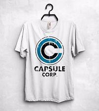 CAPSULE CORP Corporation T Shirt Top Breve BULMA Hoi-PDI DRAGON BALL SON GOKU