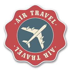 2 x 10cm Air Travel Vinyl Sticker Travel Luggage Tag Plane Retro Label Fun #6392