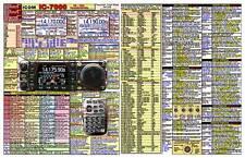 ICOM IC-7000 AMATEUR HAM DATACHART EXTRA LARGE GRAPHIC INFORMATION (INDEXED)