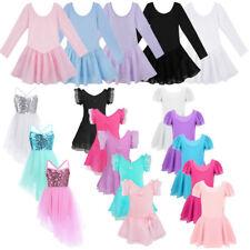 Girls Ballet Dance Dress Gymnastics Leotard Tutu Skirt Tulle Ballerina Dancewear