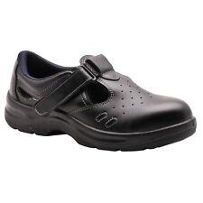 PortWest Men Steelite Safety Sandal S1 Black Various Size FW01