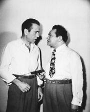 Humphrey Bogart & Edward G Robinson B&W Poster or Photo