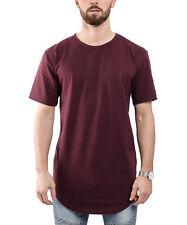 Phoenix Side Zip Longshirt T-Shirt Burgundy Mens Basic Longline