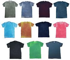 multicolor Lavado Ácido Camisetas adulto S-3xl manga corta 60/40 algodón /