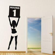 Glamour Girl Muursticker Boksring Muurtattoo Sport Slaapkamer Gym Huisdecoratie