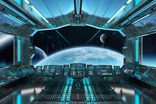 Fototapete Raumschiff Raumfahrt Innen  Kleistertapete oder Selbstklebende Tapete