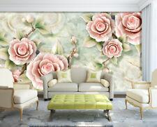 3D Elégant Rose  67 Photo Papier Peint en Autocollant Murale Plafond Chambre Art