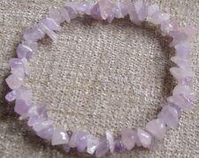 LAVANDA Ametista & ROSE QUARTZ Healing Crystal Chip Perlina Bracciale