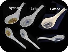 "A+ Chinese Plastic Spoons Melamine Wonton Noodle Soup Spoon w/ Hook 6.3""/8.5"" L"